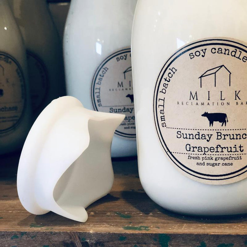 Milk Bottle Soy Candle 12.5oz