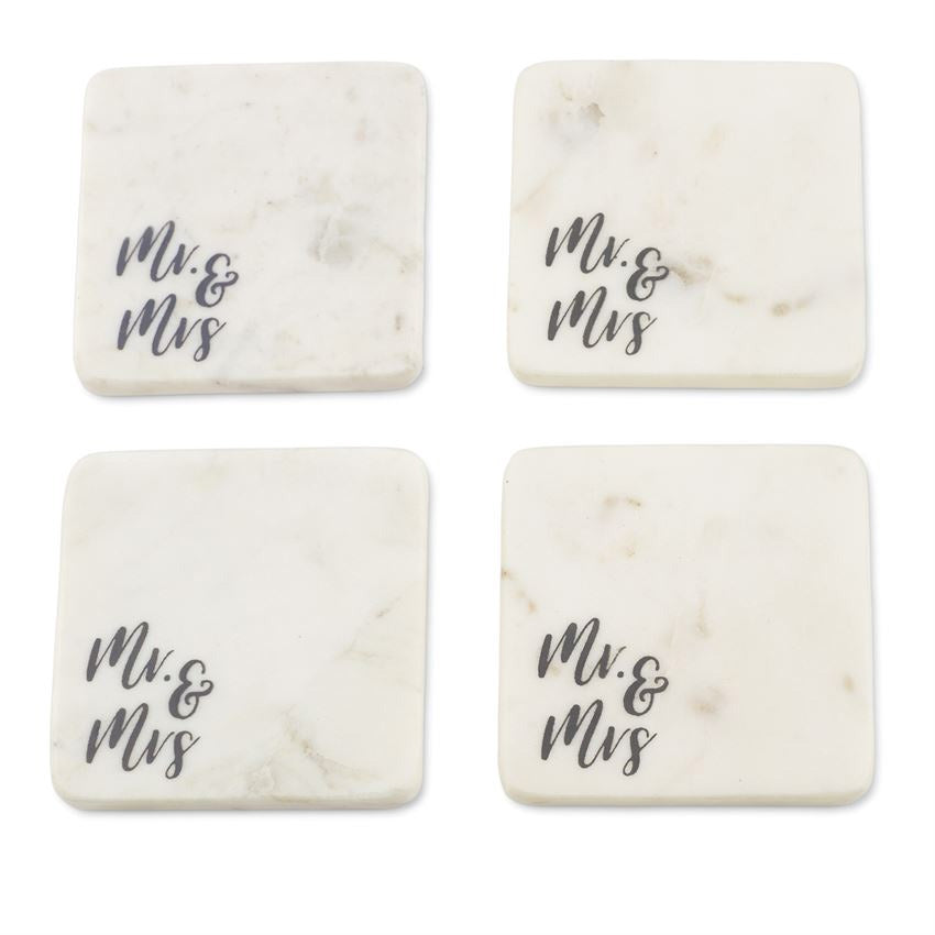 Mr. & Mrs. Marble Coaster Set
