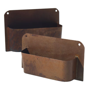 Rust Wall Planter - 13""