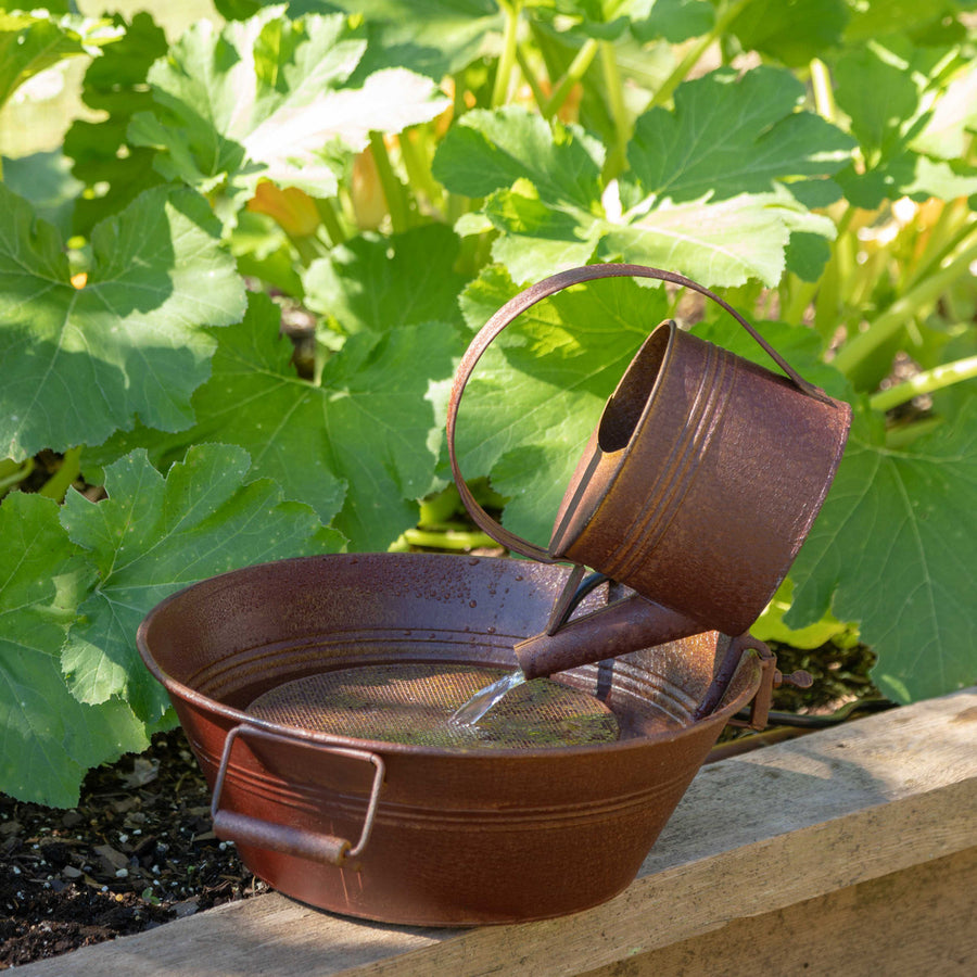 Rustic Watering Can Fountain