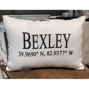 Geo Coordinate City Pillow
