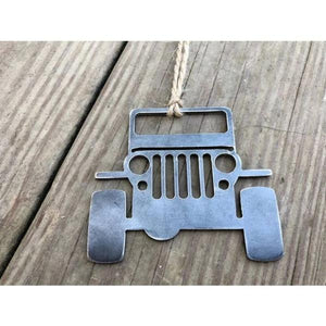 JEEP Rustic Raw Steel Ornament