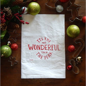 Wonderful Time Flour Sack Tea Towel