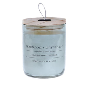 Teakwood & White Sage Candle