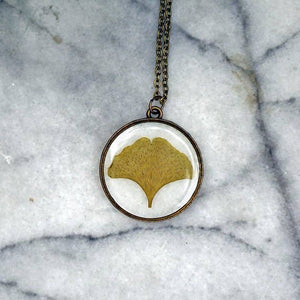 Gingko Leaf Necklace 24""
