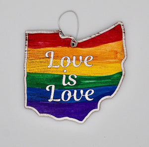 Love is Love Wooden Ornament