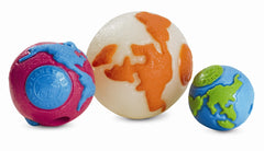 Planet Dog Orbee Tuff Orbee Ball all colors visual of sizes