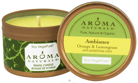 Aroma Naturals Vegan Travel Candle - 3 pack 2.8 oz each