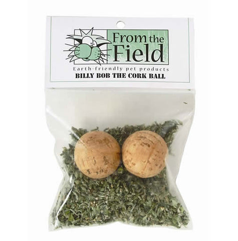 From the Field Billy Bob Cork Ball Catnip Toy