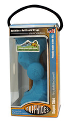Pawabunga Ruffhides Chew Toy with Himalayan Chew in Super Blue with packaging
