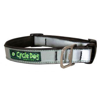 Max Reflective Dog Collar Silver