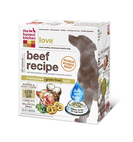 Love Dog Food (grain-free beef)