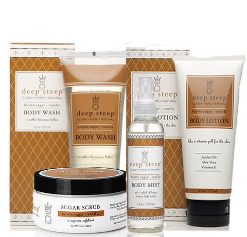 Deep Steep Brown Sugar Vanilla Shower Collection