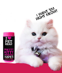 Pet Head Pretty Kitty Yummy Pineapple Deshedding Wipes, 50 count