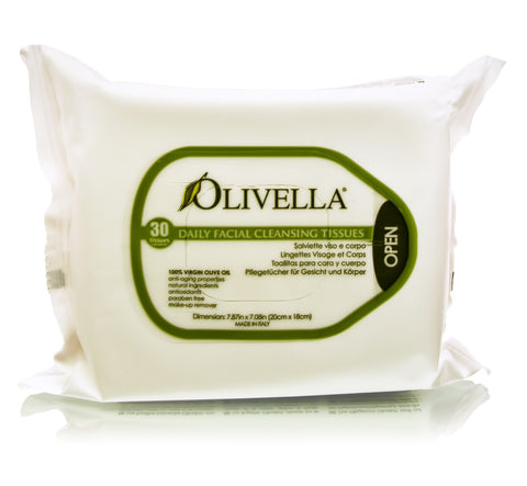 Olive Oil Daily Facial Cleansing Tissues - 30 Tissues
