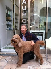 Mauro Spina with Large Poodle
