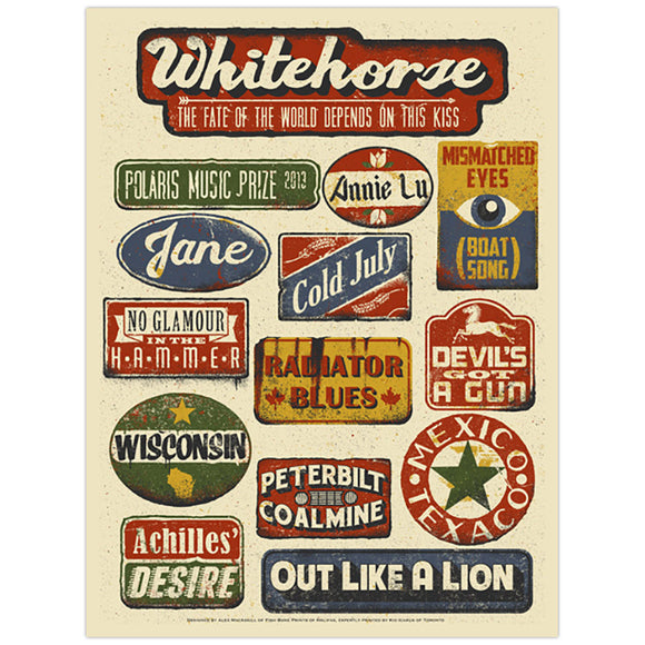 Whitehorse 2013 Polaris Music Prize Poster