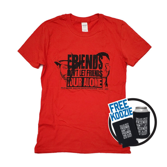 Red Tour T-Shirt with Free Koozie