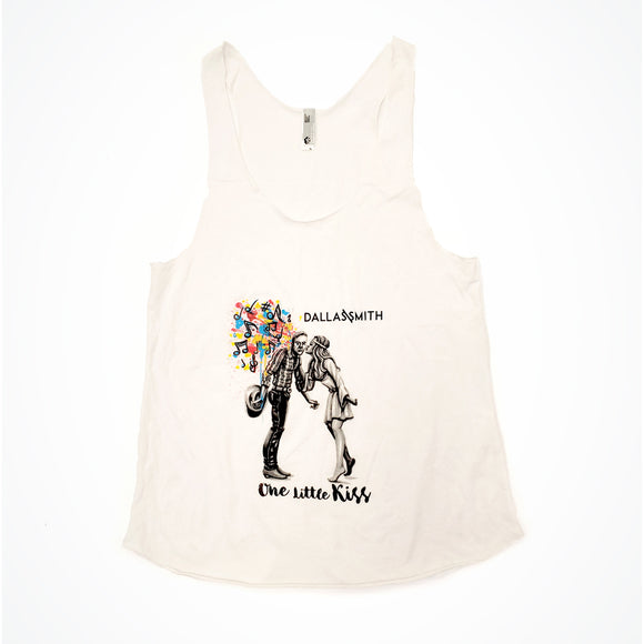 One Little Kiss White Tank