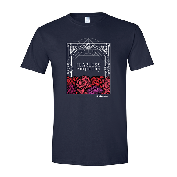 Crew Neck T-Shirt: Navy / Fearless Empathy (Unisex & Women's)