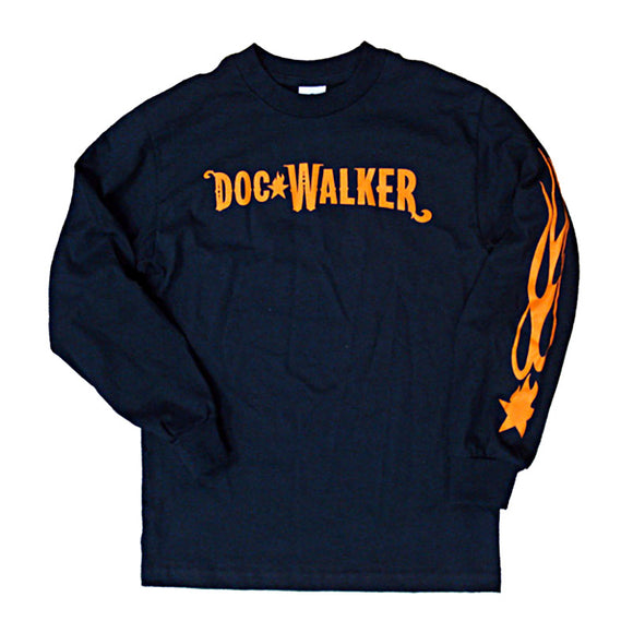 Navy Blue Long-Sleeve Logo T-Shirt