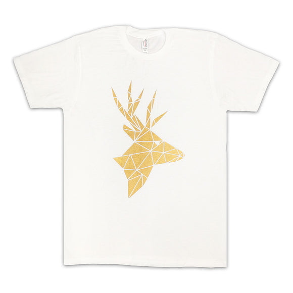 Common Deer White Tee with Gold logo