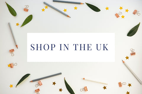 Shop from the U.K. button taking you to and Hope designs shopify shop