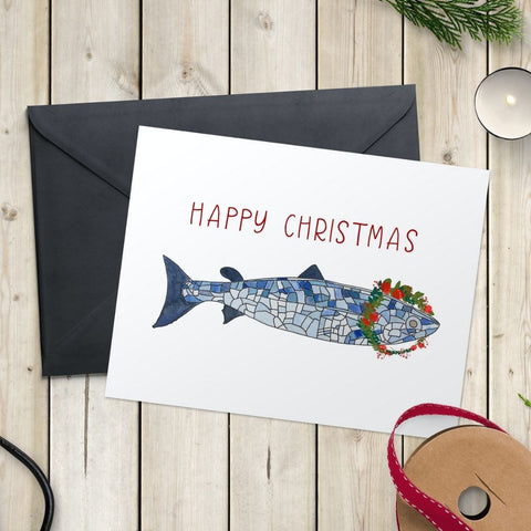 Salmon of knowledge in Belfast christmas card