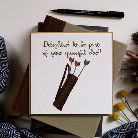 Quiverful of arrows Father's Day card based on psalm 127