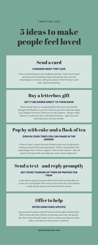 Pin this image to come back to these 5 simple ideas to make someone feel loved