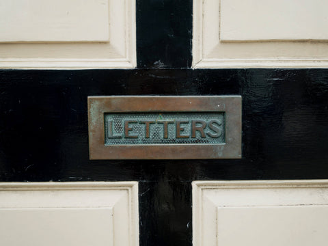 Letterbox image to illustrate writing to a school friend