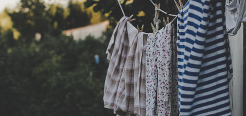 Clean washing blowing in the breeze
