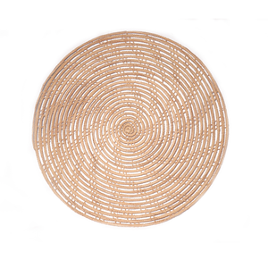 HAND-MADE PALM FIBER ROUND WOVEN PLACEMAT