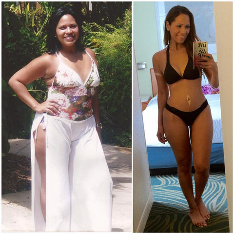 Jainmy Martinez before and after body transformation