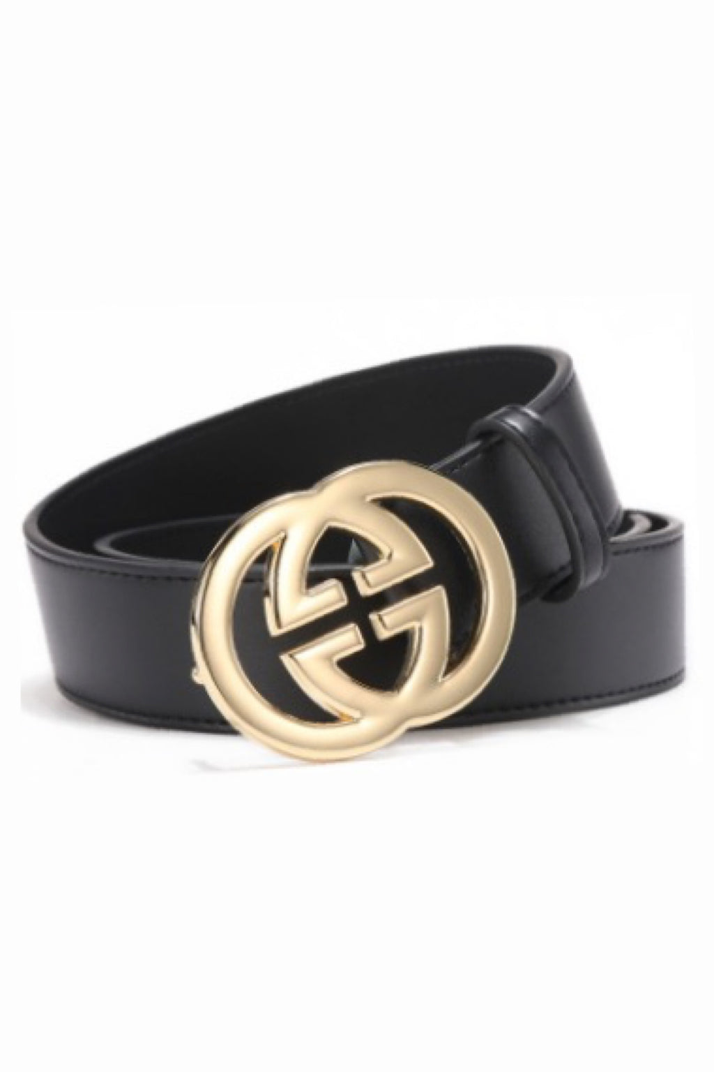 Interlocking Grip G metal leather Belt