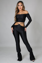 1 PIECE LEFT STRETCHY TWO PIECE SETS