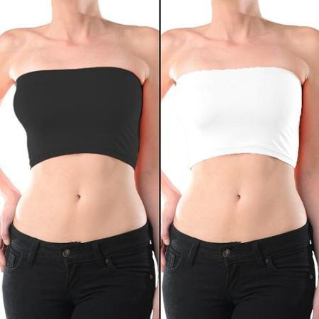 547f51e3c1df1a Seamless Comfort Strapless Bandeau Basic Crop Top Bra - MY SEXY STYLES