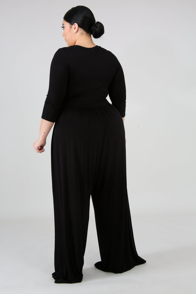 Margaret Jersey Wide Jumpsuit