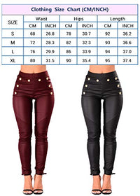 Dylan PU Leather Stretchy Skinny Leggings