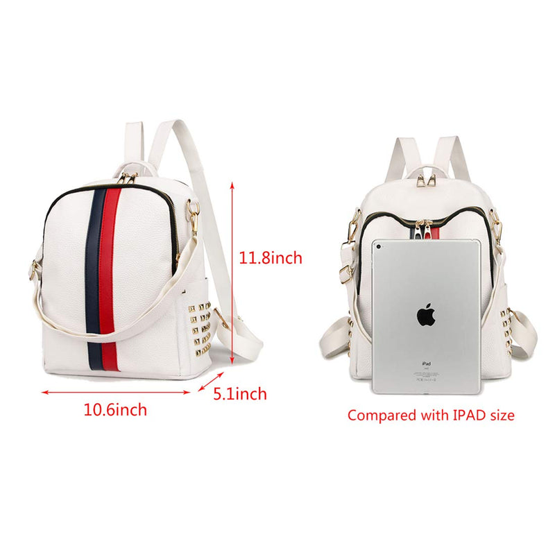 Logan Women Backpack Purse Mini Leather Rucksack Fashion Small Daypack Travel Shoulder Handbag