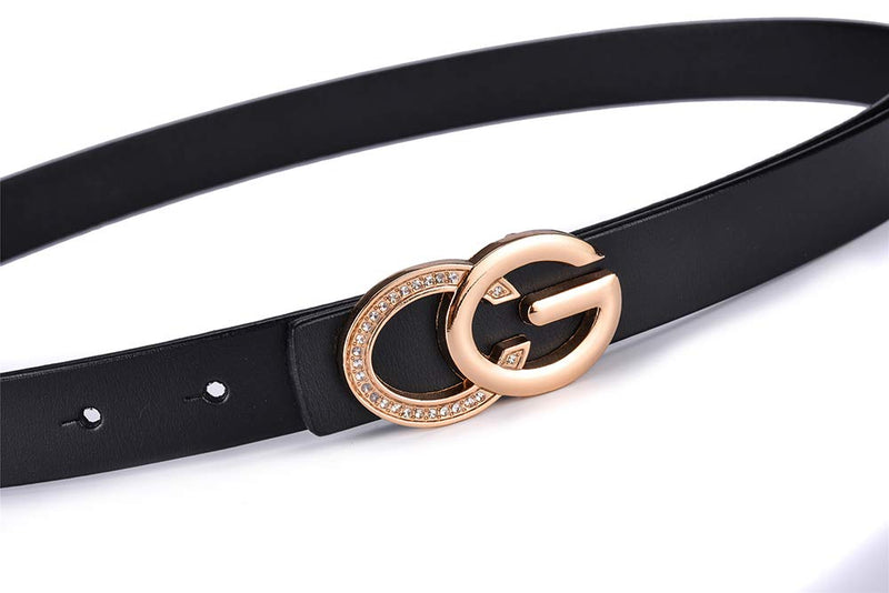 Fashion Women's Chic Letter Fancy Belts Genuine Leather Vintage Belt