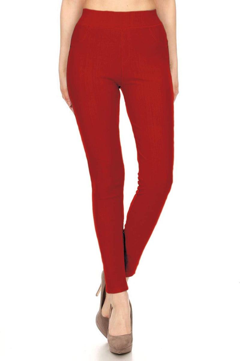 Faith Skinny Red Jeggings