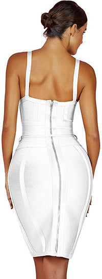 Maketina Strappy Belt Detail Cocktail Bodycon Party Bandage Dress