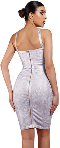 Maketina Strappy Belt Detail Bodycon Party Bandage Dress