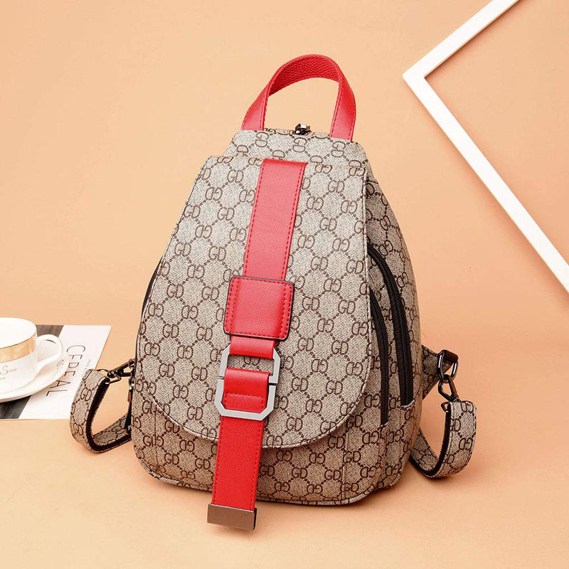 Women Casual Purse Fashion Leather Backpack Crossbody Shoulder School Bag