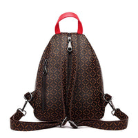 Alexandria Women Casual Purse Fashion Leather Backpack Crossbody Shoulder School Bag