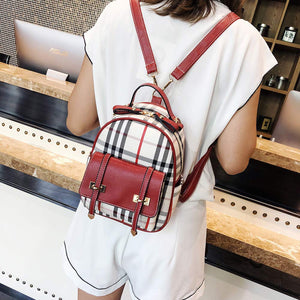 Women's Mini PU Leather Backpack Purse Casual Drawstring Daypack Convertible Shoulder Bag