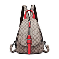 Lucille Women Casual Purse Fashion Leather Backpack Crossbody Shoulder School Bag