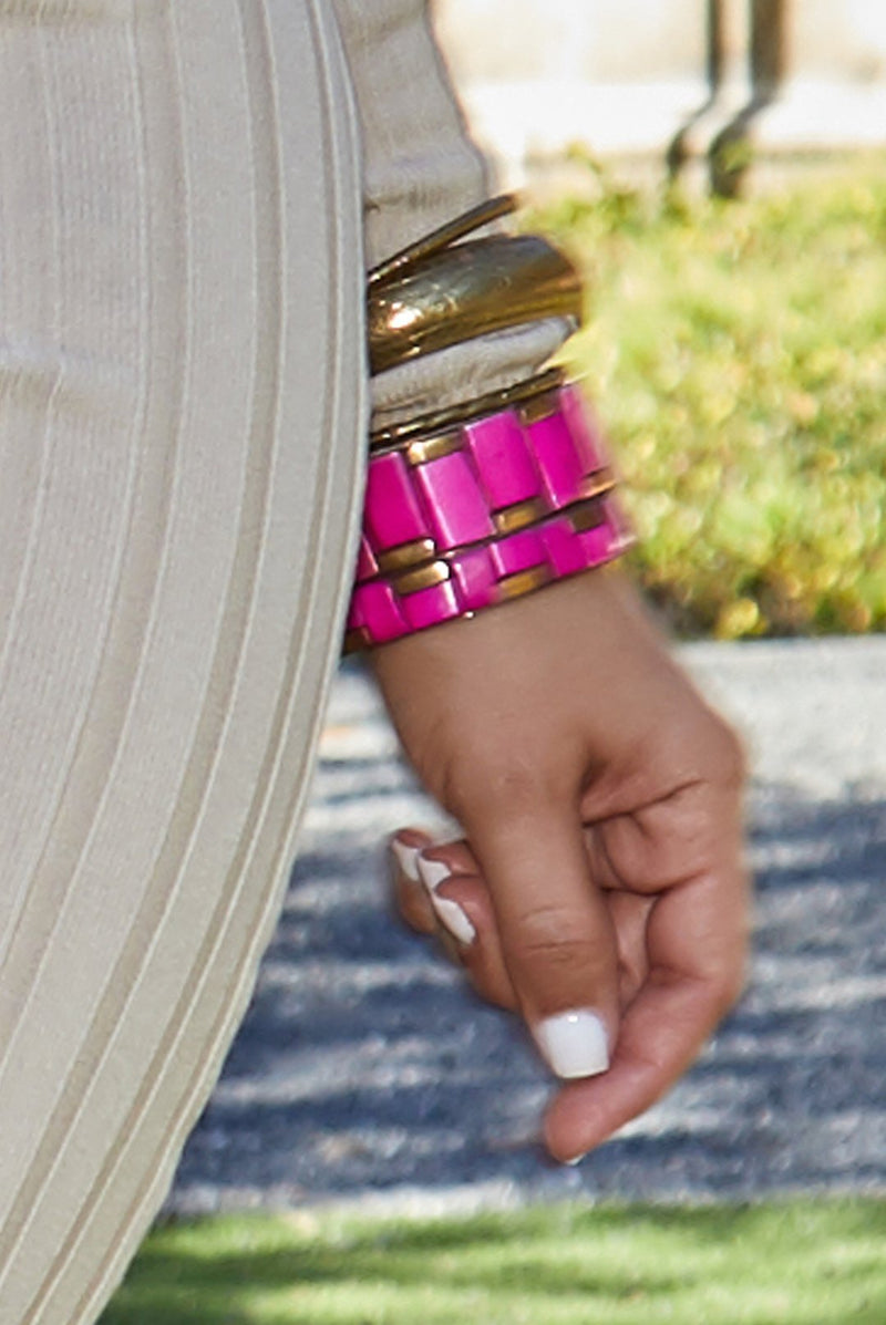 Aria Bangle Bracelets Set - Fuchsia - MY SEXY STYLES