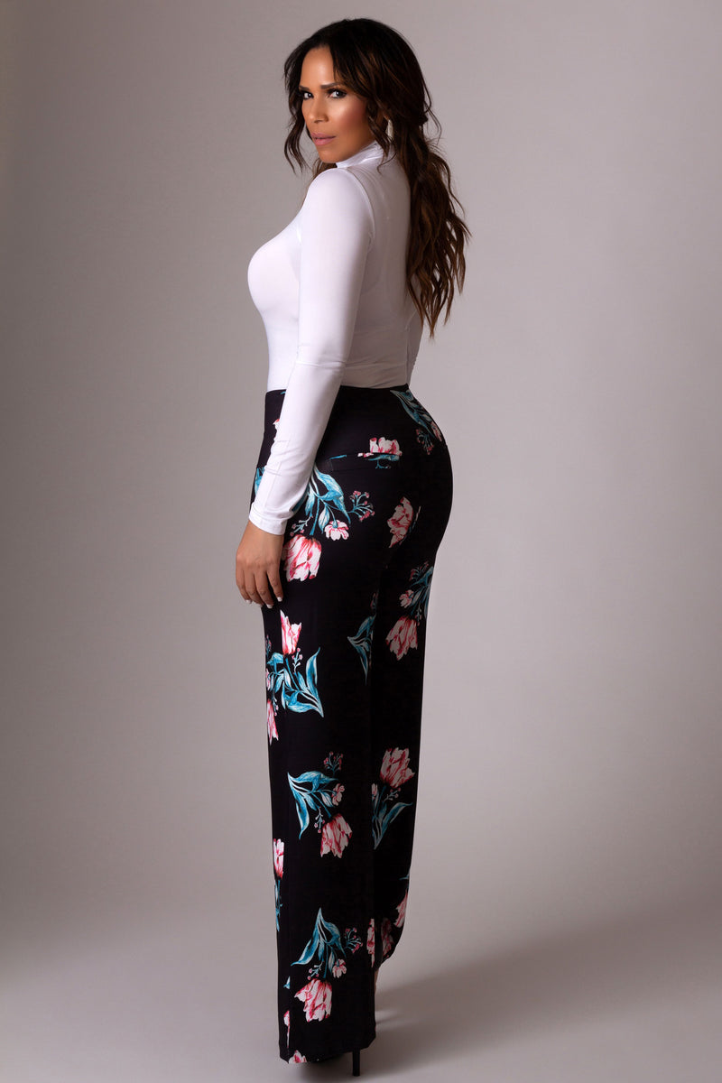 Arolina Stretchy Wide Leg Palazzo Lounge Pants